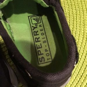 Sperry Shoes - Sperry Top-Sider size 71/2  black green inside